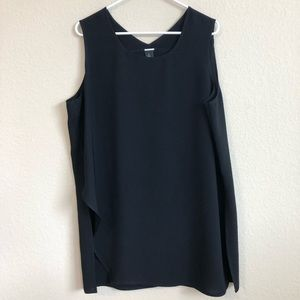 Black Label By Chico's Black Sleeveless Tank Top